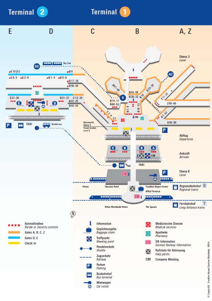 Plan Frankfurter Flughafen