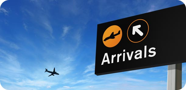 East Midlands airport arrivals