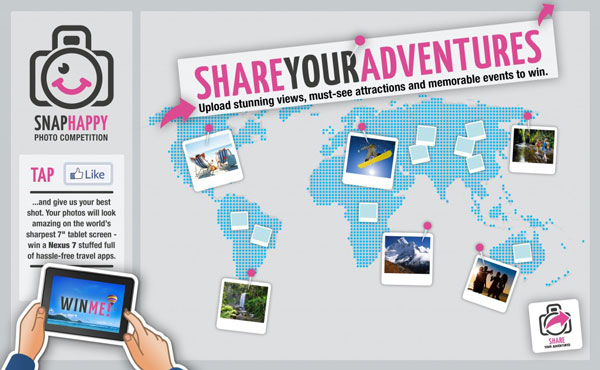 Holiday Extras photo competition, Snap Happy, Facebook
