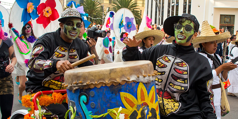 Day of the Dead or Dia de los Muertos Celebrations in Mexico