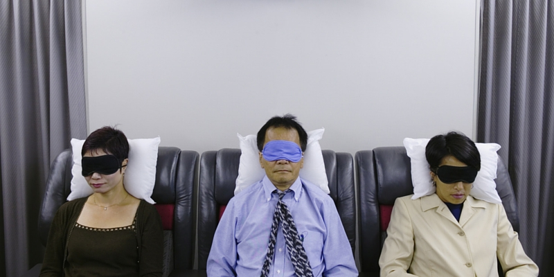 eye masks on plane