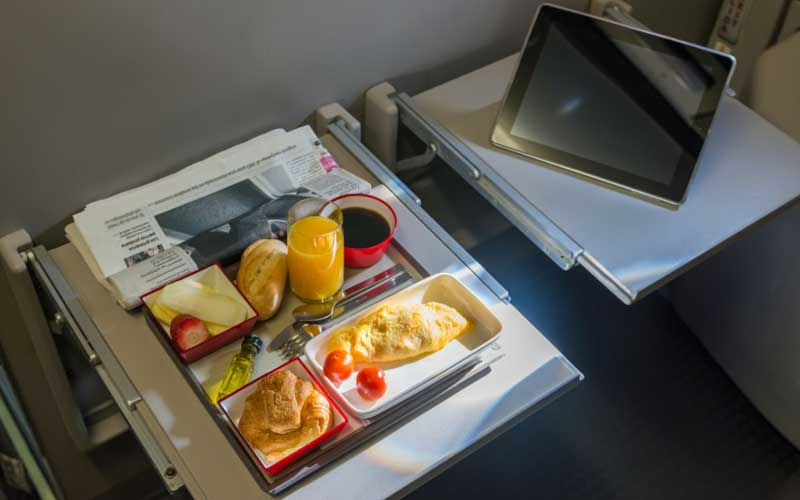 Airplane food.