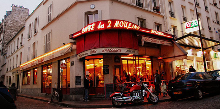 Cafe from the film 'Amelie',