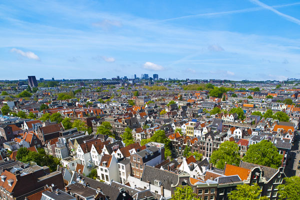 View over Amsterdam, Netherlands