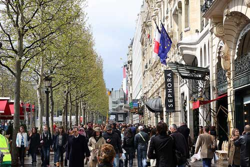 Paris shopping, champs elysees