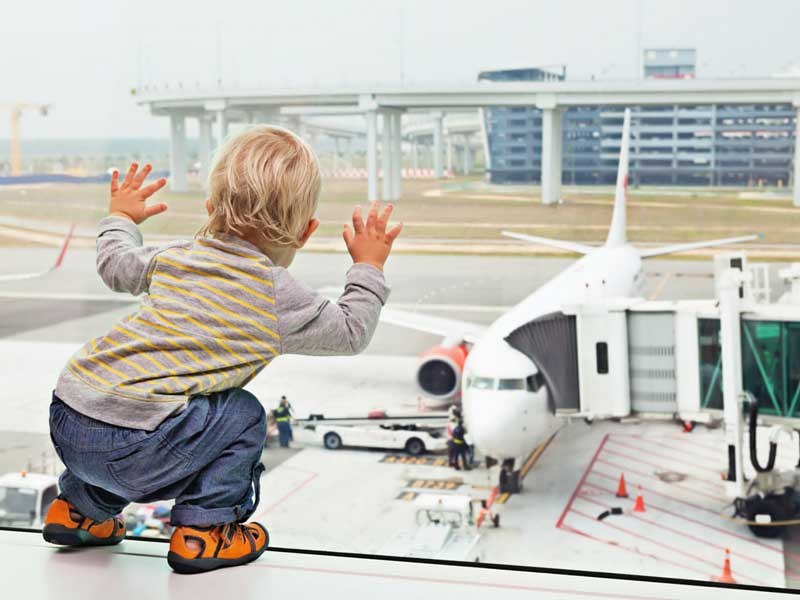Plane Spotting Child at Airport