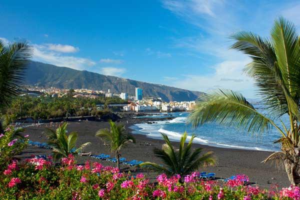 Coast by Tenerife Beach