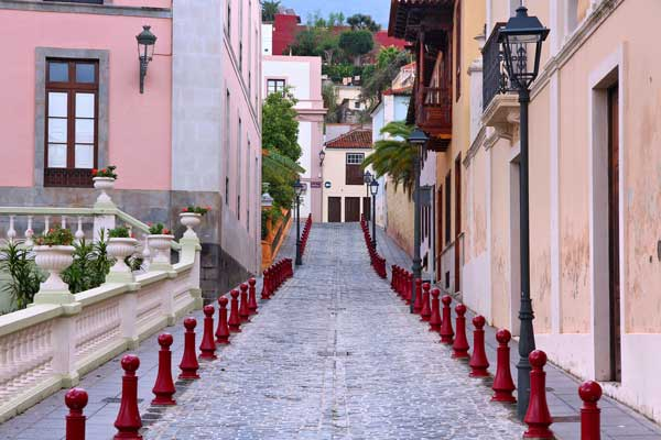 Colourful street in Tenerife