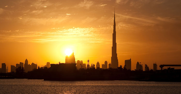 Sunset in Dubai.