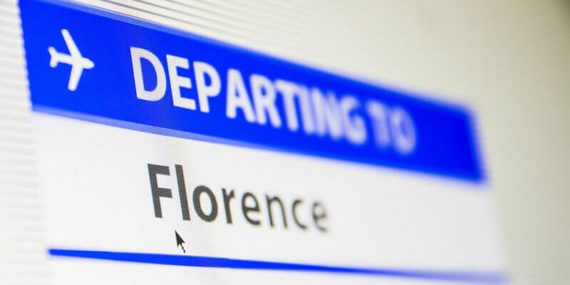 Florence flight sign