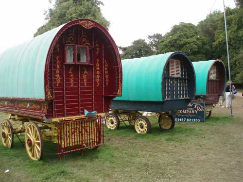 Unusual holidays, gypsy caravans
