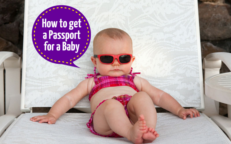Applying for a baby passport.