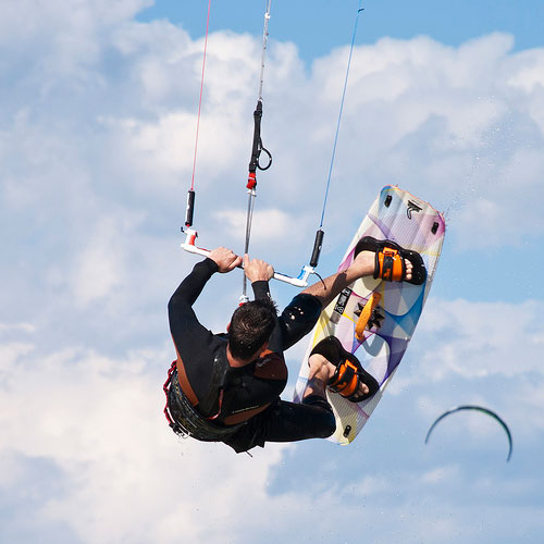 Adventure holidays, kitesurfing