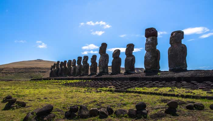 The Moai Heads, Easter Island