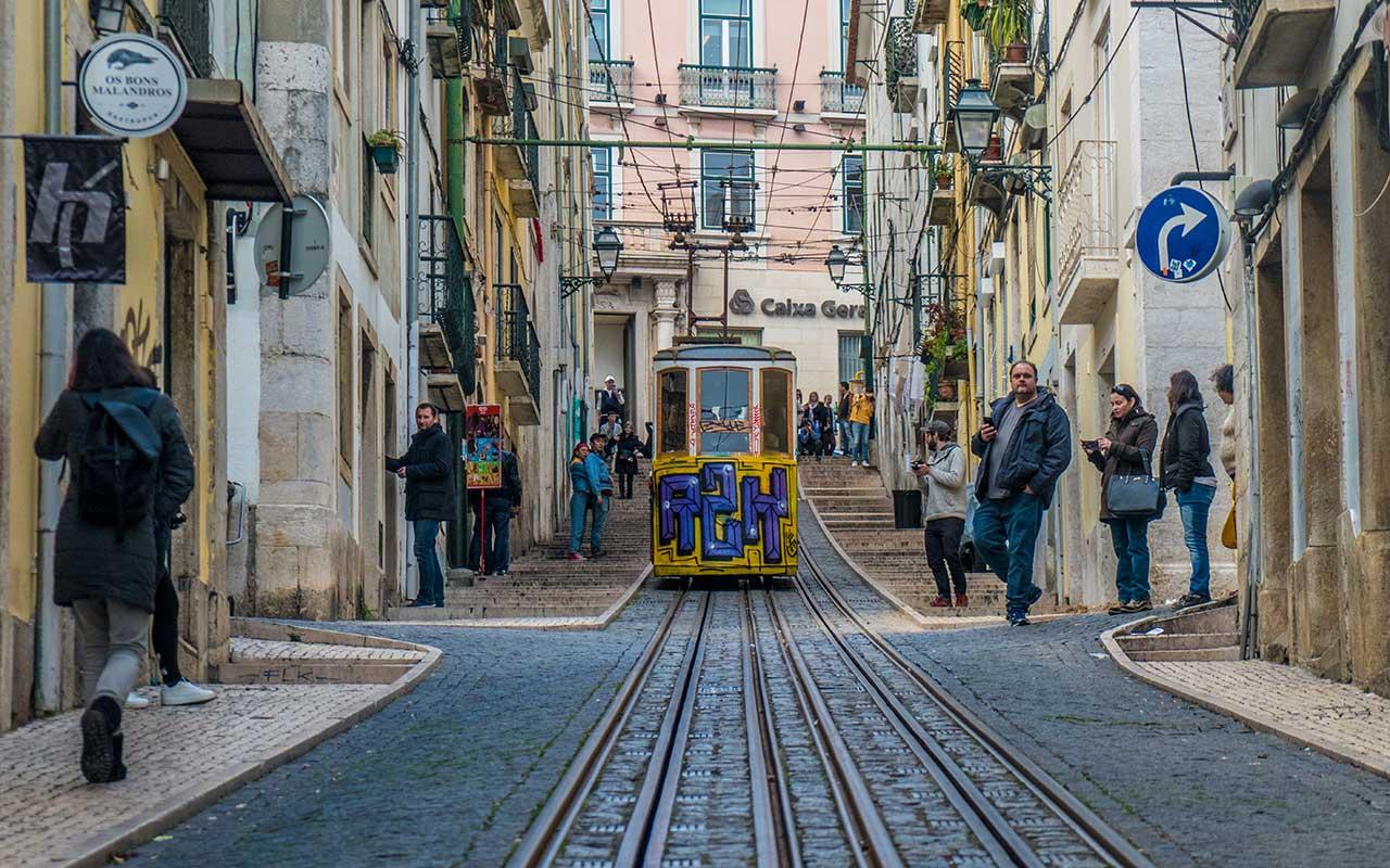 Lisbon funicular lift