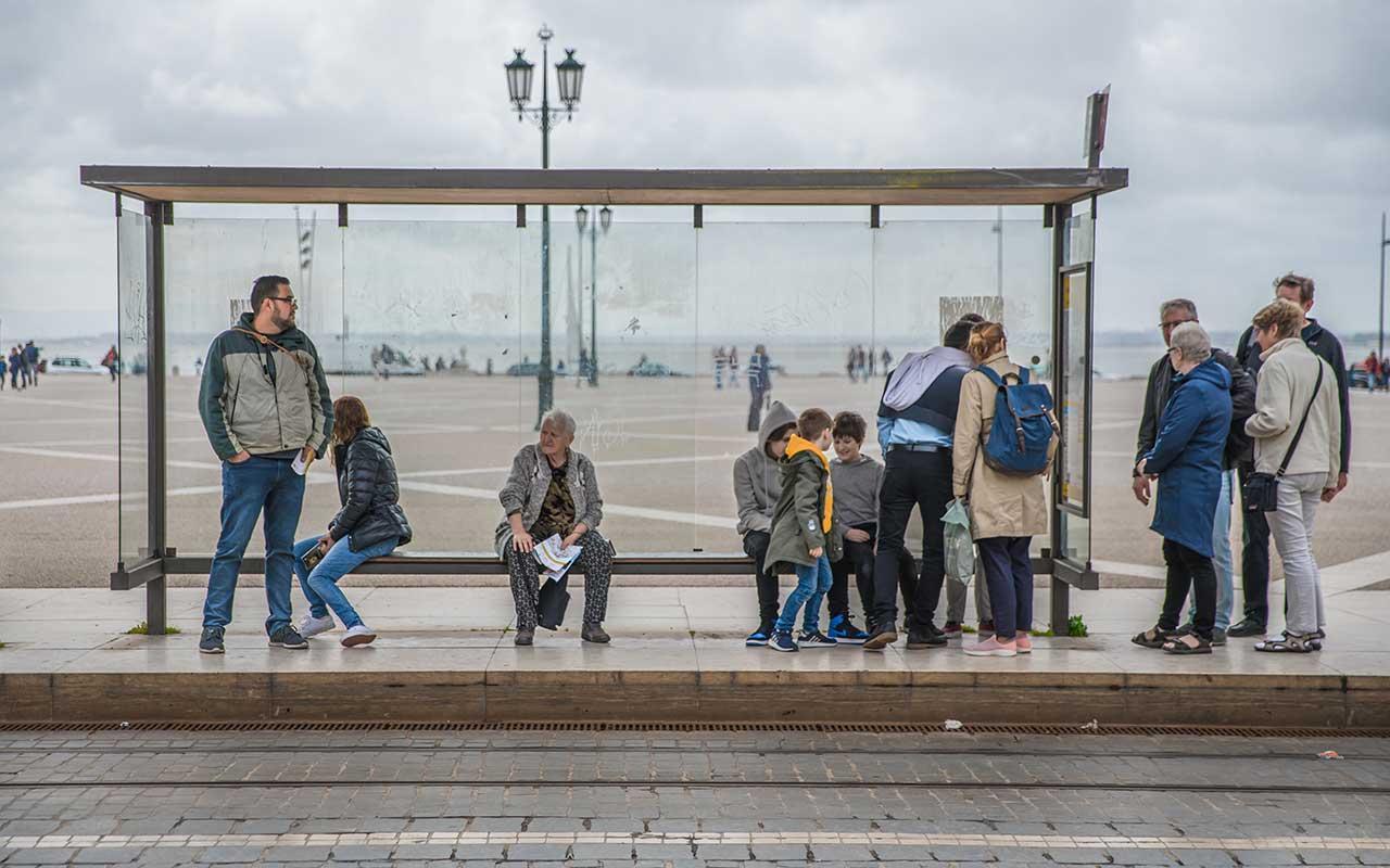 Lisbon tram stop