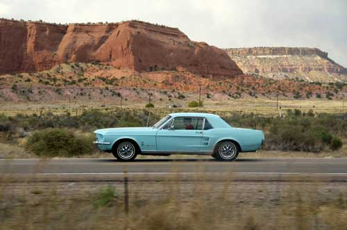 Cool car hire, mustang route 66