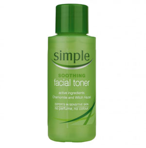 Travel size toiletries, Simple Toner Superdrug