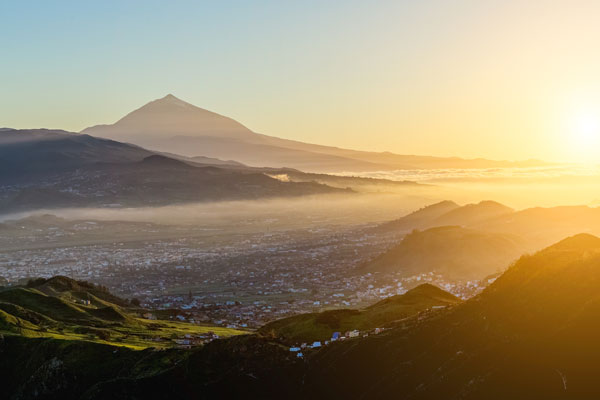 Sunset overlooking Tenerife