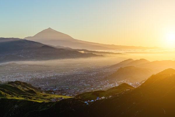 Sunset overlooking Tenerife