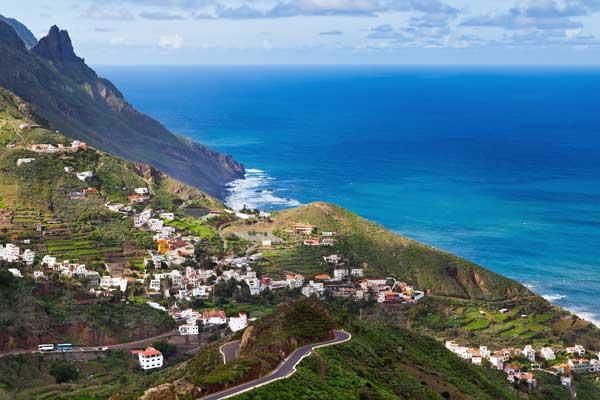 Town on coast in Tenerife