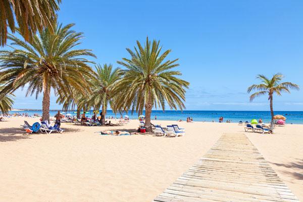 White sand on beach in Tenerife
