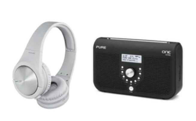 digital radio and Pioneer headphones