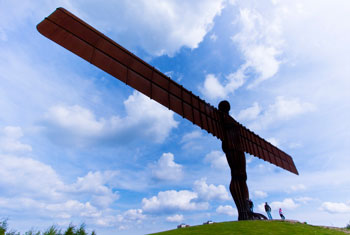 Angel of the North. Used under creative commons license from left-hand