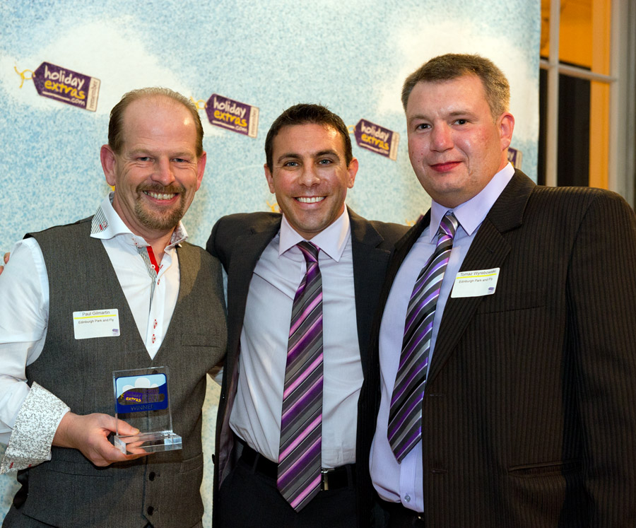 Edinburgh Park & Fly wins the Best Airport Car Park category at the HolidayExtras.com Awards.