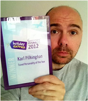 Karl Pilkington voted Travel Personality for 2012