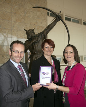 Winner of the Holiday Extras Customers' Awards Best Airport category, Robin Hood Airport.