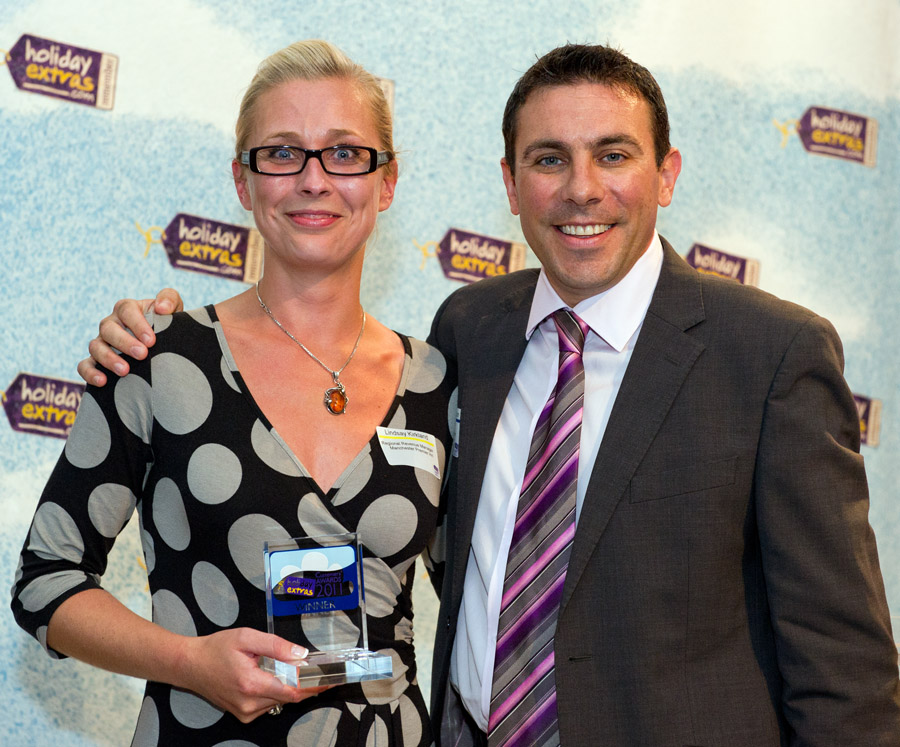Manchester Premier Inn wins the Best Airport Hotel For Families category at the HolidayExtras.com Awards.