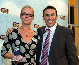 Manchester Premier Inn wins the Best Airport Hotel Restaurant category at the HolidayExtras.com Awards