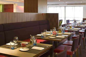 Restaurant at the Novotel Birmingham airport