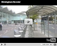 How close is the Birmingham Novotel to the airport?