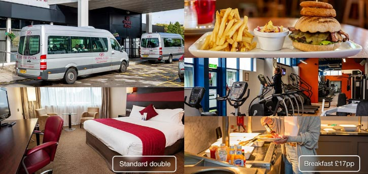 crowne plaza manchester airport hotels near train station photo banner