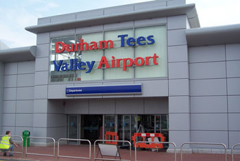 durham tees airport. Used under creative commons license from aebrookes
