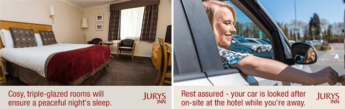 East Midlands airport hotels with parking at the hotel