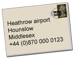 Heathrow airport address