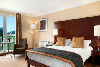 A double bedroom at the Hilton Templepatrick Belfast airport