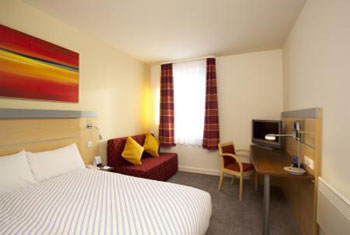 Bedroom at the Holiday Inn Express Liverpool airport