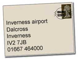 Inverness airport address