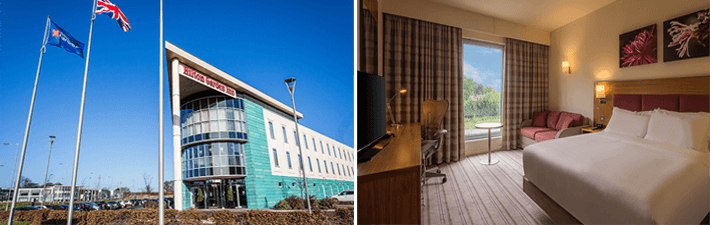 Luton airport hotels with parking at the hotel