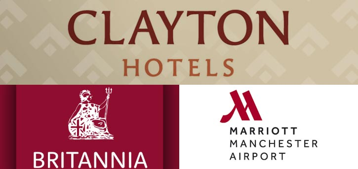 Manchester airport hotels with shuttle bus transfers logo banner