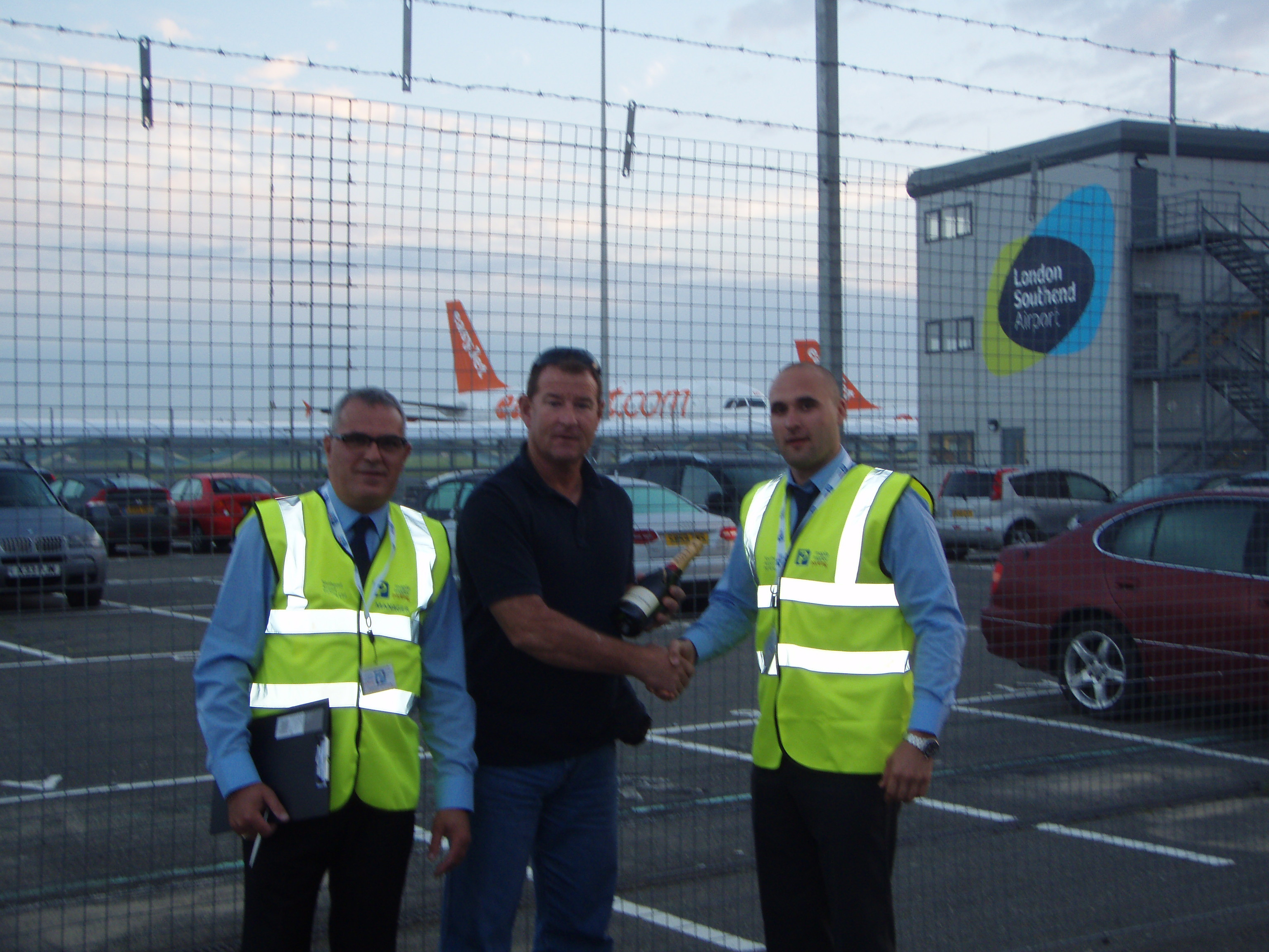 Customer rewarded with champers at Maple Manor Southend airport