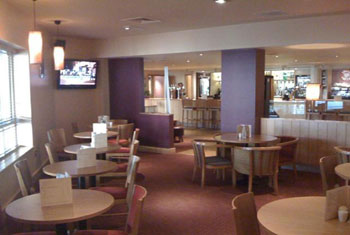 The restaurant at the Premier Inn Birmingham airport
