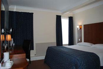 A double room at the Sky Plaza hotel Cardiff airport