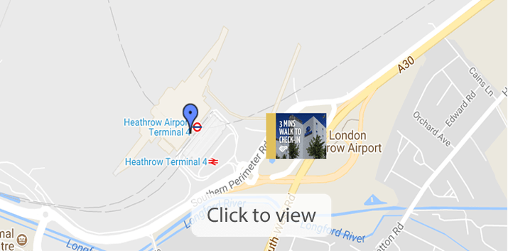 Heathrow Hotels Map