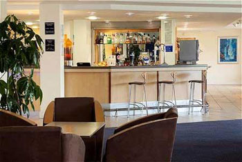 The bar at the Holiday Inn Express Cardiff airport