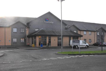 The Travelodge Glasgow airport